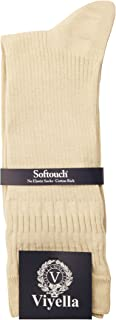 Viyella Mens Cotton Rich No Elastic Soft Top Sock UK 6-11 Euro 39-46