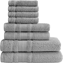 Qute Home Towel Set; 2 Bath Towels, 2 Hand Towels, and 4 Washcloths   Spa & Hotel Towels Quick Dry 100% Turkish Cotton Tow...
