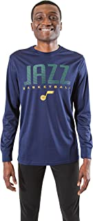 Ultra Game Men's Athletic Quick Dry Tee NBA Performance Poly Long Sleeve T-Shirt, Charcoal Gray