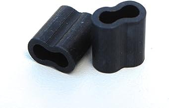 PVC Decoy Cord Black Aluminum Crimps Pack of 100 Pieces