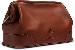 "Executive Leather Toiletry Bag for Men, Large 11"" – Leather Dopp Kit for Men - Wash Bag, Shaving Kit, Toiletries, Grooming..."