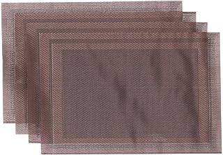 Elyassin Plate Mats, 45 x 30 cm - 4 Pieces - Brown