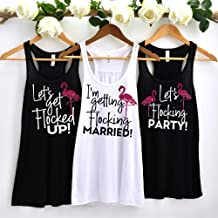 Flamingo Bachelorette Party, Beach Themed Party, Bridesmaid Shirts, Flamingo Tank Tops, Let's Get Flocked Up, Flocking