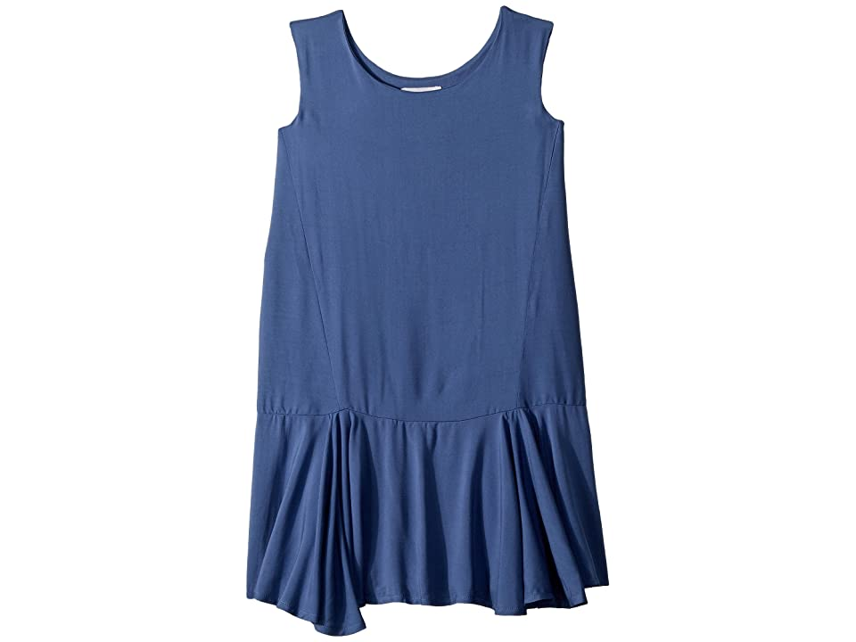 fiveloaves twofish Piano Dropwaist Dress (Big Kids) (Wegdewood Blue) Girl
