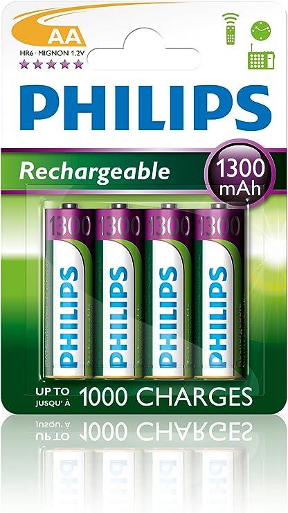 Philips Multi Life Nimh Akku Aa Mignon 1300 Mah 4er Pack Heimkino Tv Video