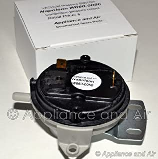 NEW W660-0056 Vacuum Switch Timberwolf Pellet Stove TPS35, TPI35 + Instructions