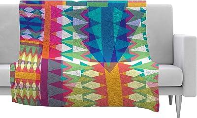 40 x 30 Kess InHouse Suzanne Carter Geo II Gray Geometric Fleece Throw Blanket