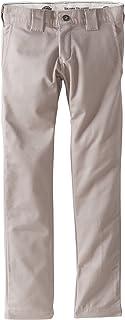 Dickies - QP801 flaco Pantalón recto del niño, 18, Silver Grey