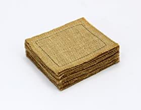 COTTON CRAFT - 12 Pack Jute Reversible Coasters - Natural - 4 Inches Square - Made from 100% Eco-Friendly Natural Jute - S...