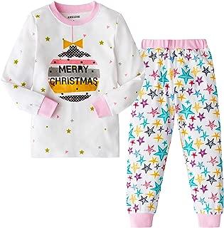 AMGLISE Christmas Pajamas Set Santa Claus Cotton Pajamas for Boys Girls Kids Pjs Toddler Sleepwear