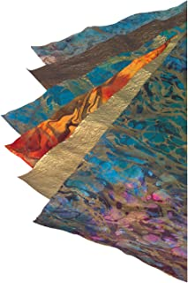 School Specialty 405618 Thai Marble and Metallic Paper, Assorted Sizes/Colors (Pack of 6)