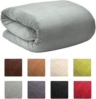 comprar comparacion Beautissu XXL Manta de sofá y Cama Aurelia Suave cálida 220x240cm Microfibra Forro Polar Coral ÖKO-Tex Gris Claro
