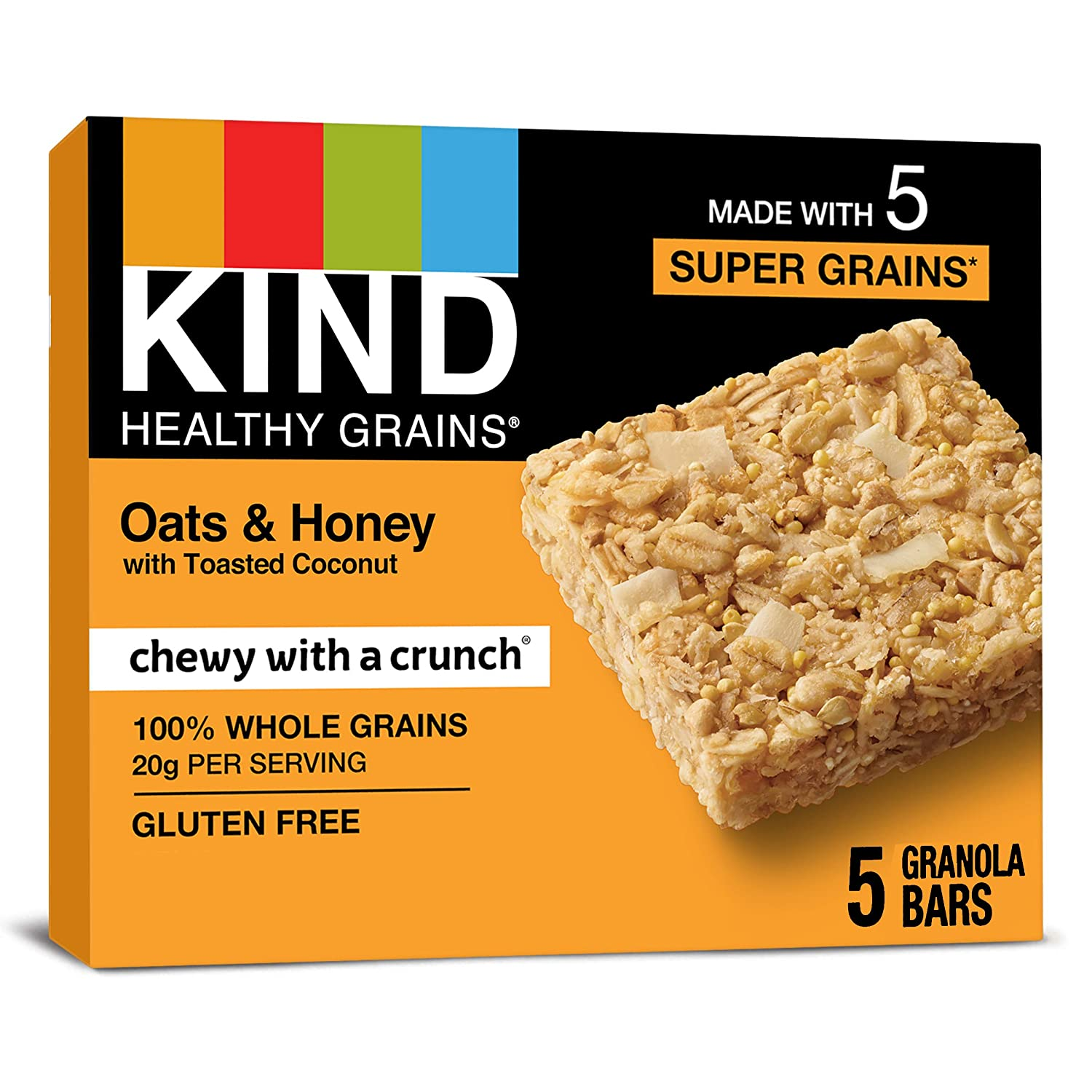 KIND Healthy Grains Phoenix Mall Bars Oats Coconut Toasted Glu In stock with Honey