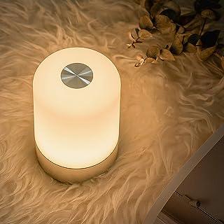 ナイトライト ベッドサイドランプ 間接照明 タッチセンサー 明るさ調節照明 usb充電式 3段階調光 RGB変換 小型 卓上 テーブルランプ 授乳ライト 常夜灯 ledライト 寝室 ルームライト 足元ライト 目に優しい 50時間照明 停電対策
