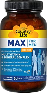 Country Life Max for Men Maxi-Sorb Multi-Vitamins- Vegetarian (Rapid Release), 60-Tablet