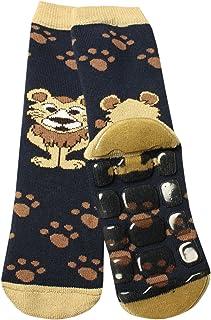 Weri Spezials - Calzini per bambini con leone in ABS, colore: Blu marino