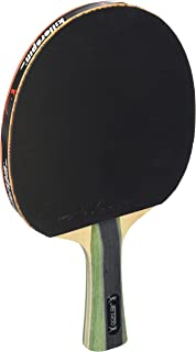 Killerspin JET400 Smash N1 Ping Pong Racket – Intermediate Table Tennis Racket  5 Layer Wood Blade, Nitrx-4Z Rubbers, Flare Handle  Competition Ping Pong Racket  Memory Book Gift Box Storage Case