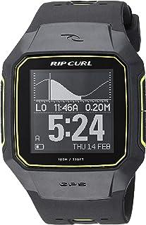 Rip Curl Men's 'SearchGPS' Quartz Plastic and Polyurethane Sport Watch, Color:Black (Model: A1144-BLU