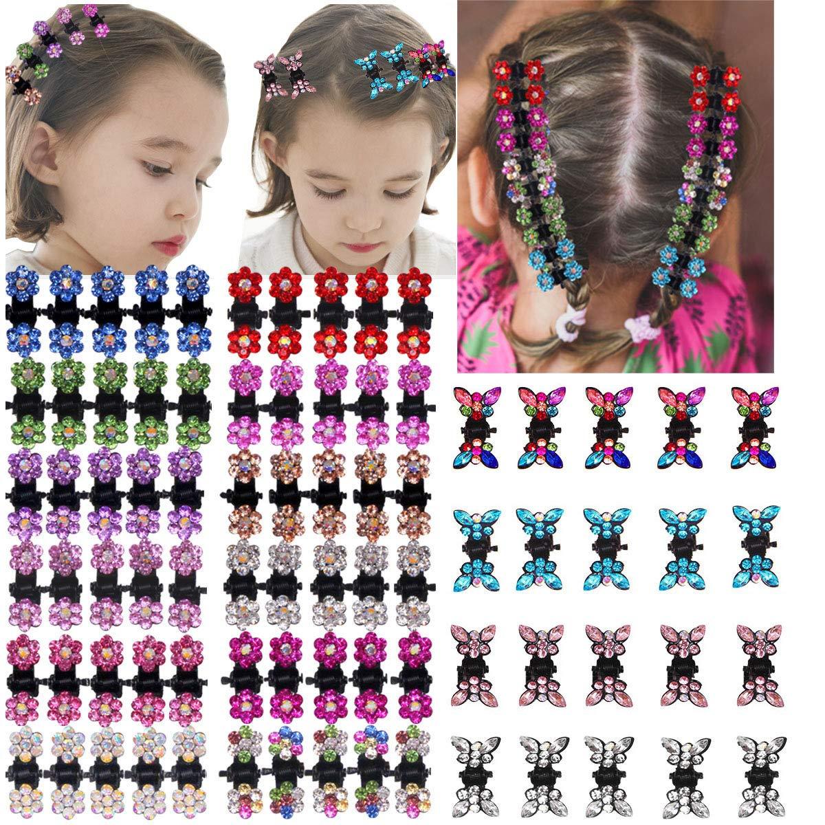100% quality warranty DeD 80pcs Flower Rhinestone Hair Clips Al sold out. Glitter H Clip Bangs