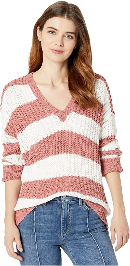 Mauve Stripe Knit