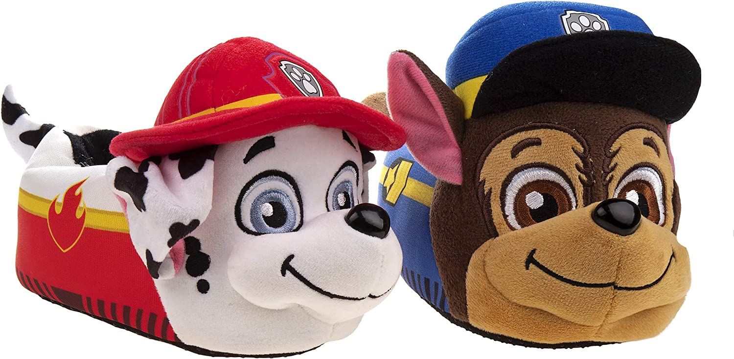 Nickelodeon Boys and Girls Paw Patrol Slippers - Chase, Marshall, Skye and Everest
