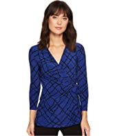 Anne Klein Greenwich Tartan Wrap Top