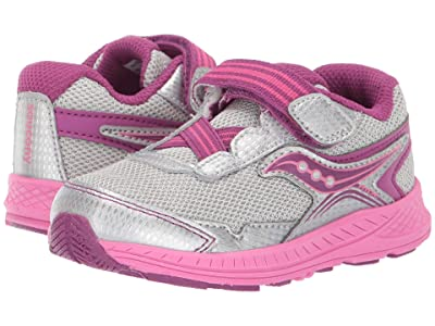 Saucony Kids Ride 10 Jr (Toddler/Little Kid) (Silver/Pink) Girls Shoes