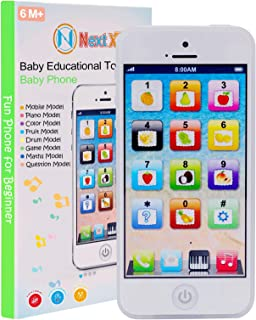 NextX Baby Toys 6 to 12 Months, Interactive Baby Phone with Music and Lights, Play to Learn, Touch Screen Early Preschool ...
