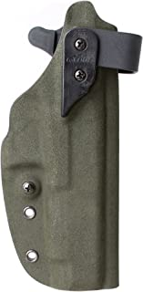 G-CODE XST RTI KYDEX Holster for Glock 34-Right Hand (Predator Green Fuzz ON Black KYDEX) 100% Made in USA (#502)