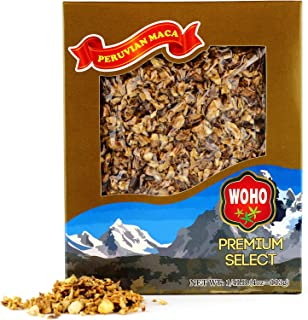 WOHO Dry Raw Maca Root Chips (Peruvian Ginseng) 4oz - Vacuumed Gift Pack