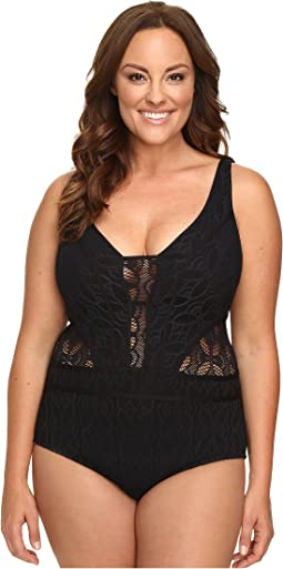 Plus Size Color Play One-Piece