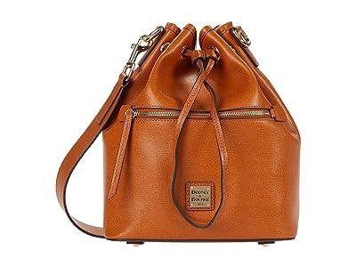 Dooney & Bourke Saffiano II Drawstring (Natural) Drawstring Handbags