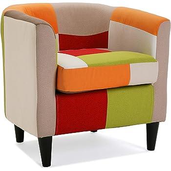 Versa 19500458 Sillón tapizado con reposabrazos Red Patchwork ...