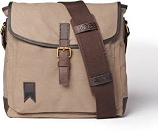 Navali Shipwright Satchel Bag for Tablets, iPads, Small laptops - Waxed Canvas - Charcoal Gray