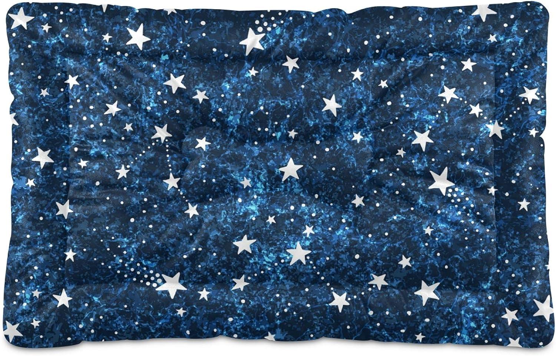 Ultra Soft Pet Bed Seattle Mall Mat Blue Fluff?Crate Short Sky Night On Stars Cheap