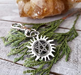 THE ORIGINAL Cosplay Anti possession | planner charms | Supernatural clip | silver pentacle keychain |