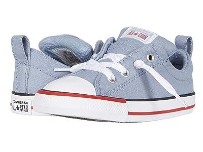 Converse Kids Chuck Taylor(r) All Star(r) Street Varsity Slip-On (Infant/Toddler) (Blue Slate/White) Boy