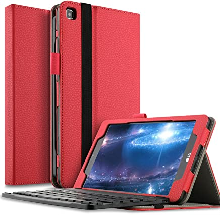 ... Sprint (LK460) Tablet - Detachable Wireless Keyboard Front Prop Stand Case for LG GPad F2 8.0 Sprint Model LK460 8-Inch Android Tablet 2017 Release(Red)