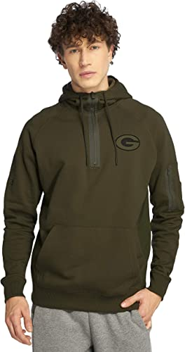 nouveau Era vert Bay Packers Halfzip Hoody Camo Collection