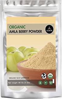 Naturevibe Botanicals Organic Amla Berry Powder, 5lbs | Organic Gluten-Free, Raw & Non-GMO | Face Masks and Hair Masks (80...