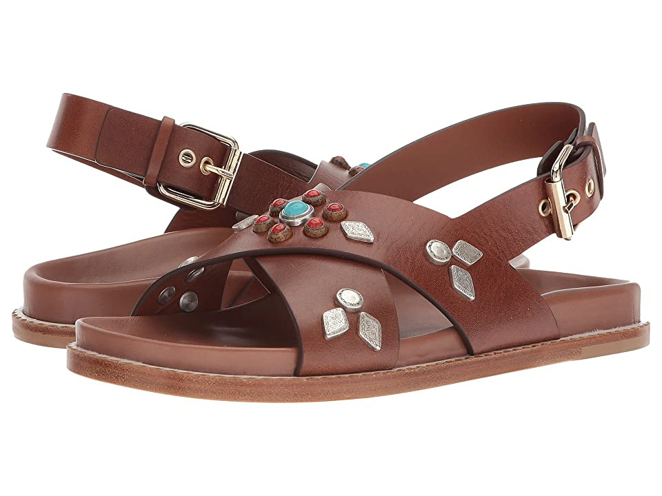 Etro Studded Crossover Sandal (Cuoio) Women