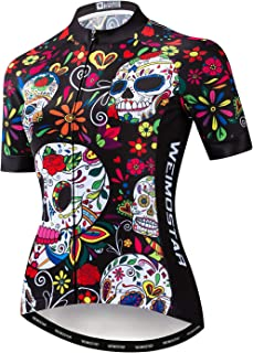 Women's Cycling Jersey Short Sleeve Quick-Dry Breathable Biking Shirt Reflective