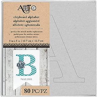 Art-C Uppercase Stencil Chipboard Alphabet Box