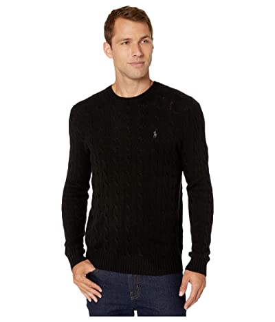 Polo Ralph Lauren Cable Wool-Cashmere Sweater (Polo Black) Men