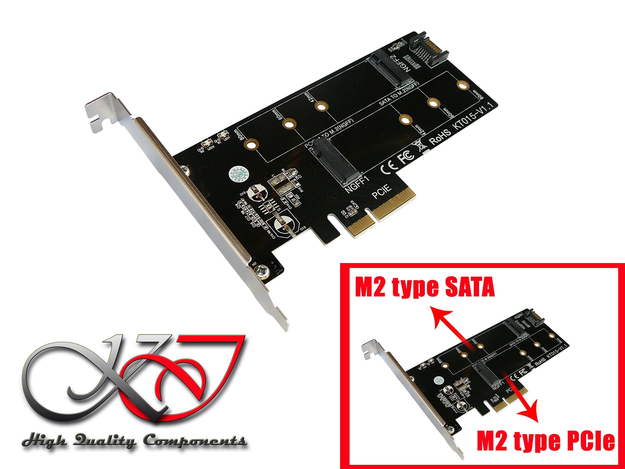 Kalea-Informatique – Tarjeta controladora PCIe 2.0 x4 para SSD M2 ...
