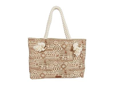 Sakroots Bayside Reversible Tote (Tobacco Batik World) Handbags
