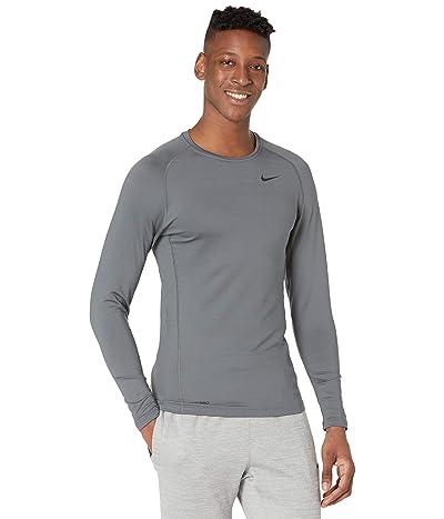 Nike Pro Top Warm Long Sleeve Crew (Iron Grey/Black) Men