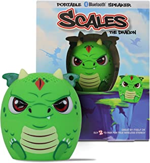 My Audio Pet Mini Bluetooth Animal Wireless Speaker for Kids of All Ages - True Wireless Stereo – Pair with Another TWS Pet for Powerful Rich Room-Filling Sound (Scales-Dragon)
