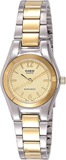 Casio Women's Gold Dial Stainless Steel Analog Watch - LTP-1253SG-9ADF