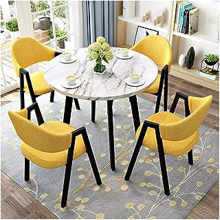 Mesa de comedor Juego de muebles Mesa de Negociación y combinación Presidente Balcón de ocio del patio cocina comedor mesa y una silla de oficina de recepción de combinación La negociación de negocios